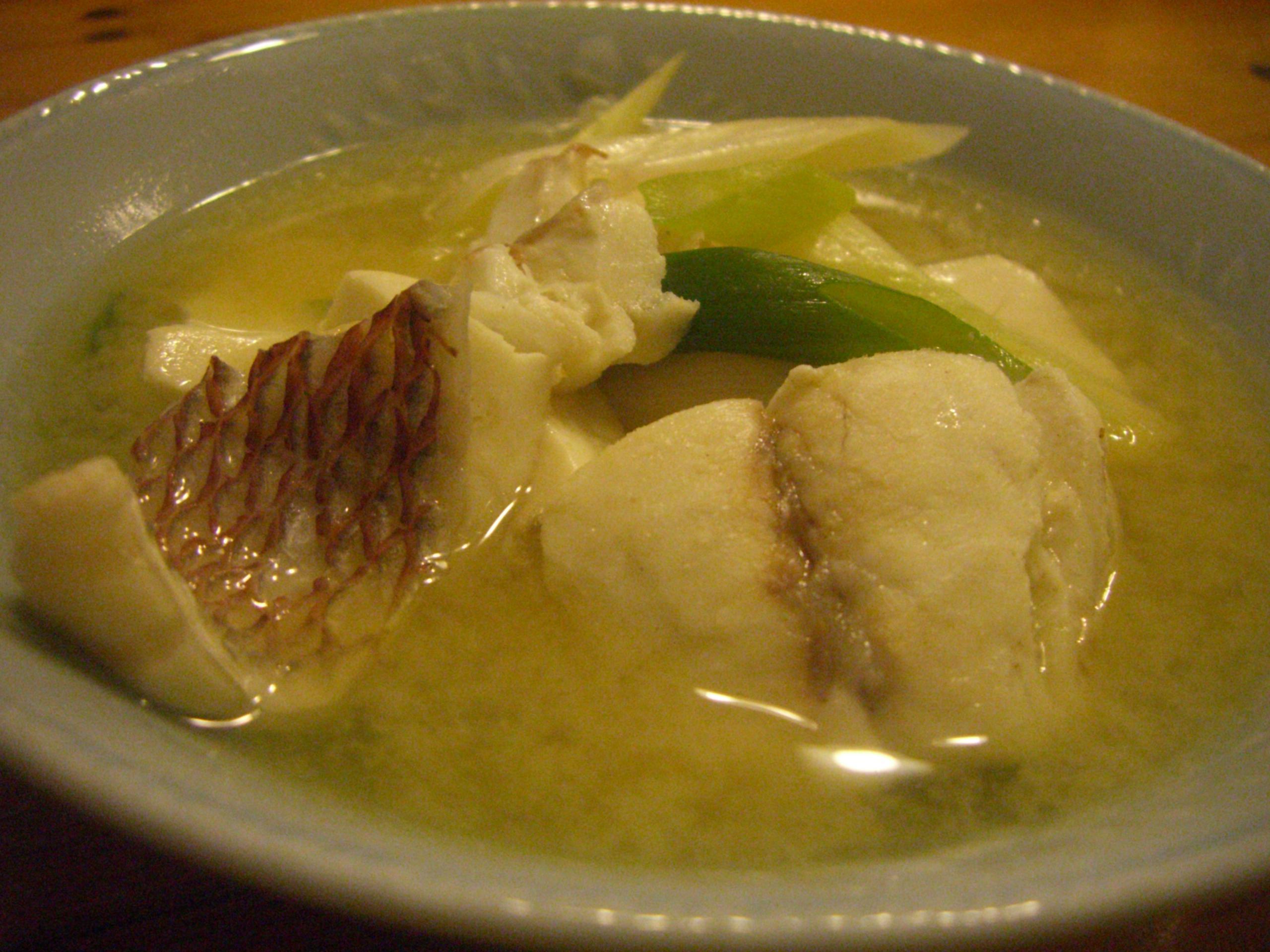 鯛の味噌汁