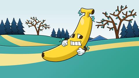 バナナのイラスト 寒い場所のイラスト