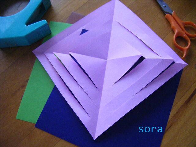 すべての折り紙 結晶 作り方 折り紙 : ... (雪の結晶)の作り方