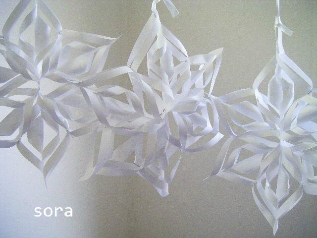 すべての折り紙 折り紙結晶作り方 : コピー用紙から6枚正方形を ...