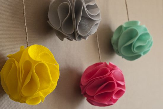 for Diy felt flower mobile