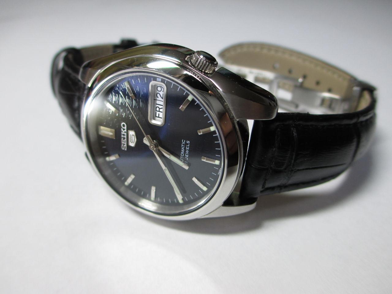 official photos 2e4fa 80cd6 無垢・革】ベルト交換〈SNK357KC〉 : 理系な腕時計ブログ