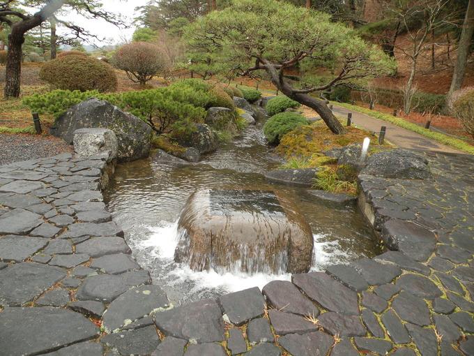 翠楽苑日本庭 福島県白河市井筒