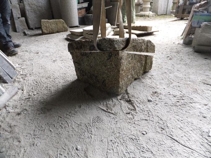 飛び石製作(天然石)の製作~薄型・軽量タイプ~