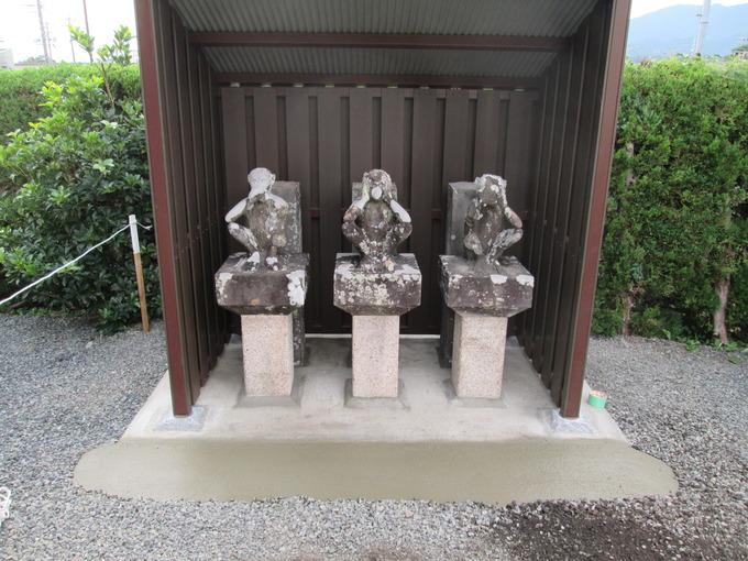 三猿石像庚申寺(新城市)