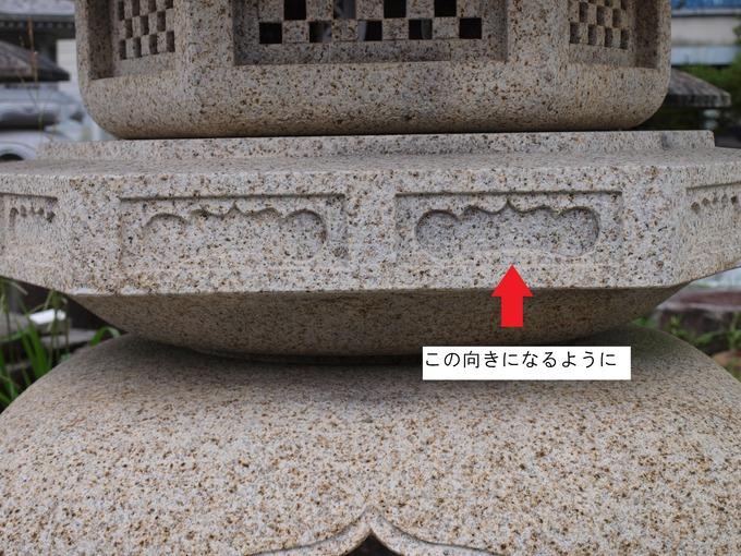 石灯篭の向き古代雪見受け (2)