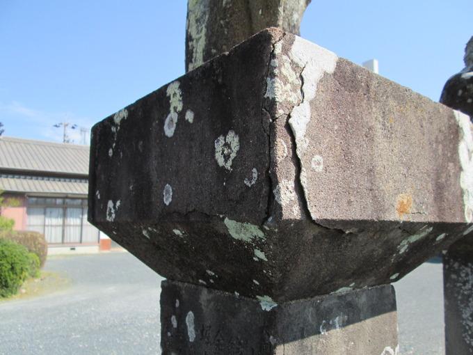 庚申寺三猿石像風化