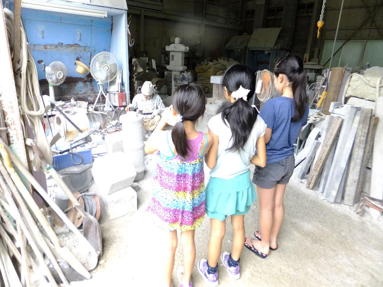 【夏休み自由研究テーマ】石屋の工場見学 石灯篭の歴史を ...