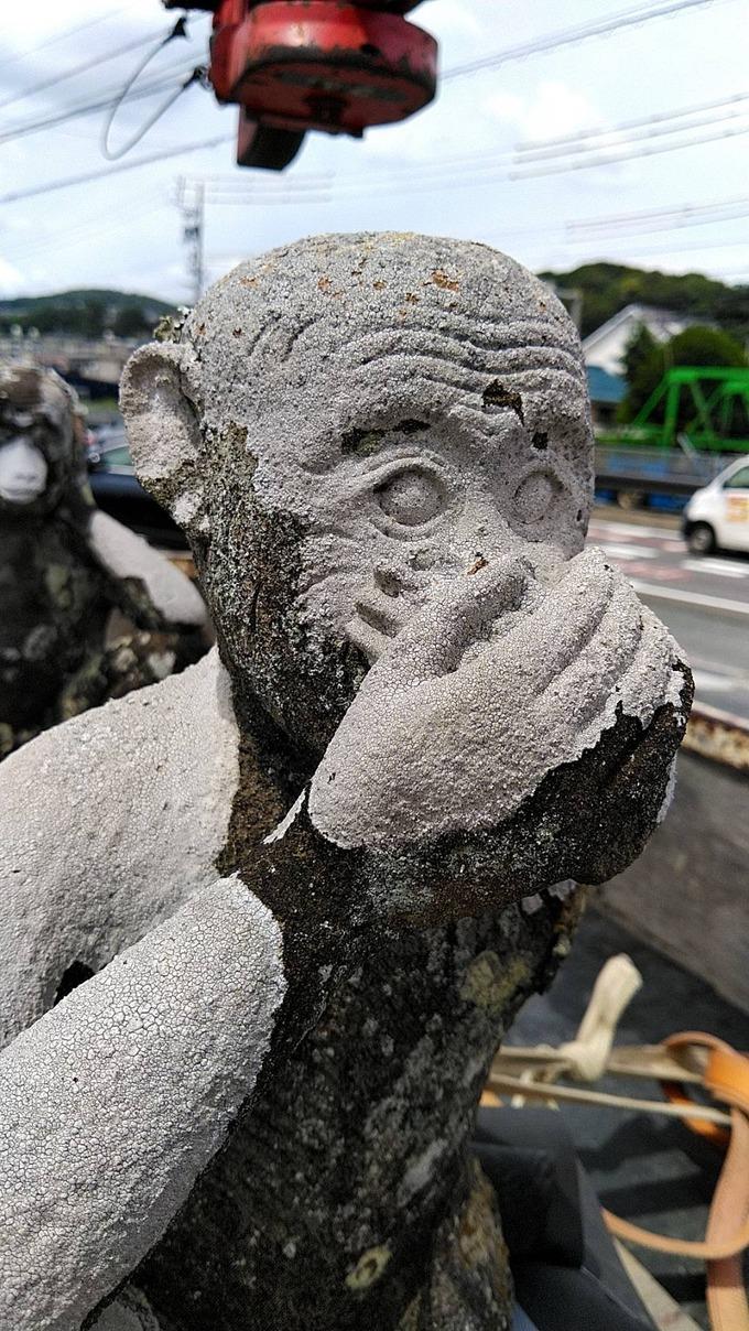 三猿石像 新城庚申寺 (5)