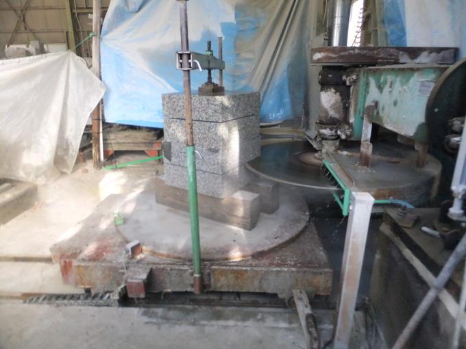 石切り機械(回し切り)使い方