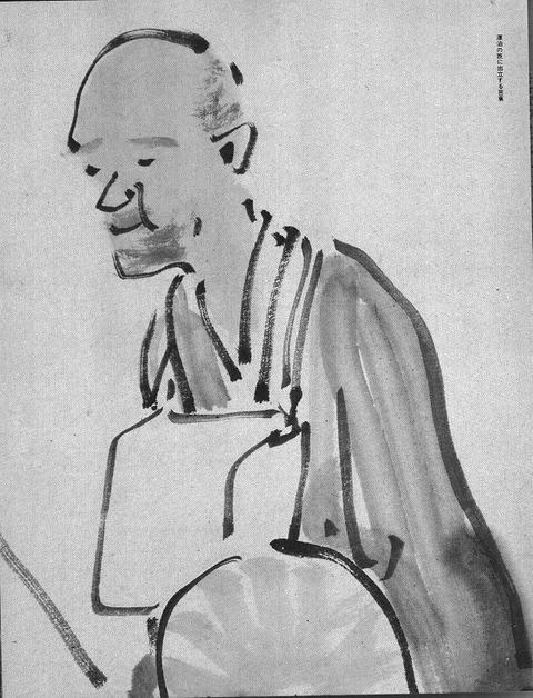 m-与謝野蕪村筆芭蕉の旅立ちの図