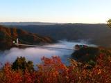 早朝の竜神大吊橋