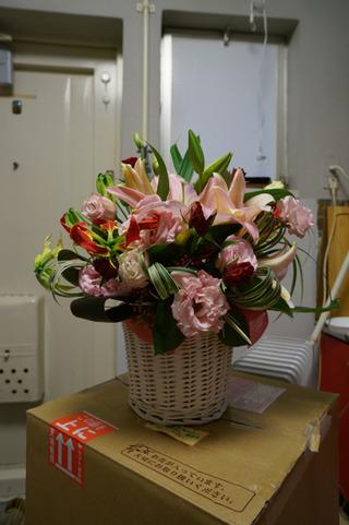 作家クラブより祝い花