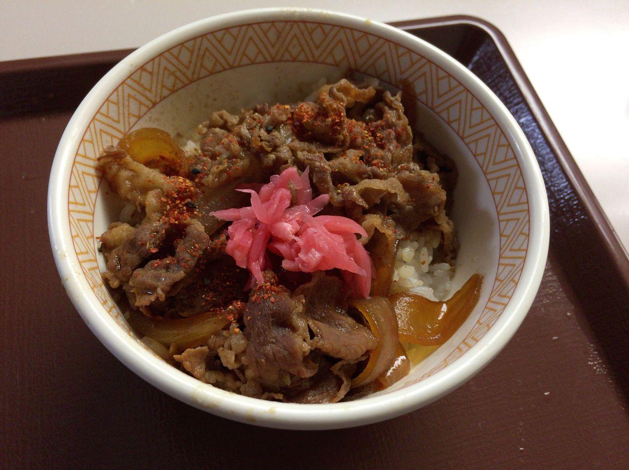 「すき家の牛丼 ミニ」の画像検索結果