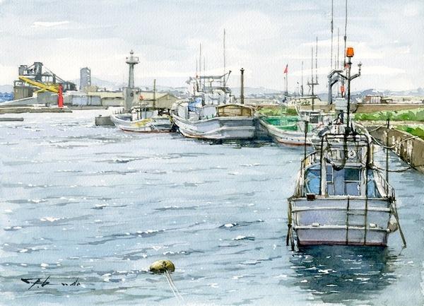 港の午後(八戸漁港)F4ウオーターフォードW,シュミンケ