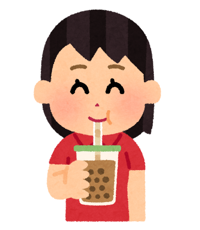 drink_tapioka_tea_woman