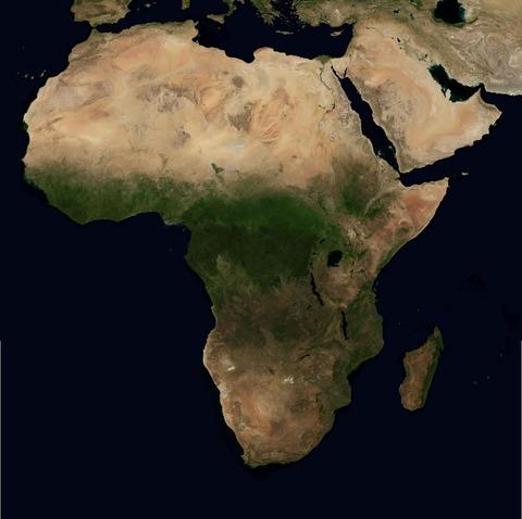 衛星地図南アフリカ