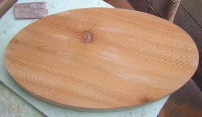 フランス料理屋さん木の看板