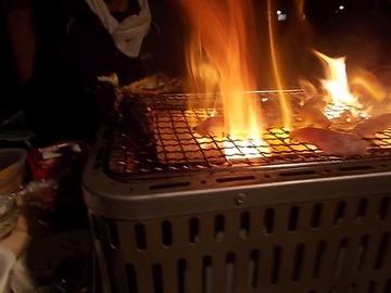 170426木炭コンロで焼く