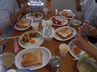 180722中学生民家体験9作って食べる朝食