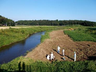 170914涸沼川岸の土質調査