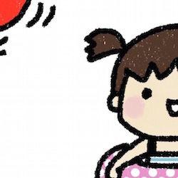 浮き輪をもった女の子
