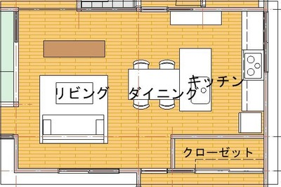 改修プラン2(キッチンⅡ図)