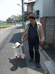 100503はるかちゃん&パパ