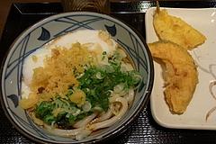 100719とろ玉うどん&キス天&南瓜天@丸亀製麺