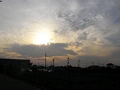 090911太陽と雲
