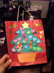 091211クリスマス紙袋