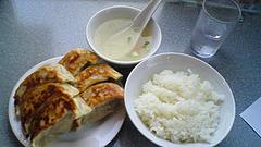 090416黒豚餃子定食