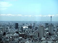 100715東京スカイツリー(都庁南展望室より)
