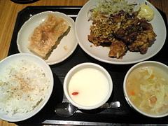 090518油淋鶏セット@西安餃子