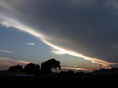 1100728夕焼けと雲