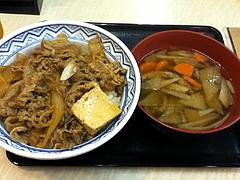 100927牛鍋丼&けんちん汁@吉野家