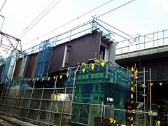 100825石神井公園駅高架工事中