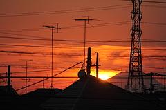 101205富士山と夕日