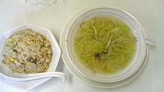 090417炒飯&野菜スープ