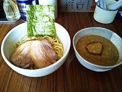 100414つけ麺withチャーシュー@伝堂