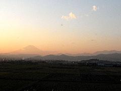 091202夕焼けと富士山