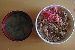 100910牛丼&味噌汁