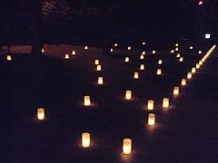 090921蠟燭の灯り