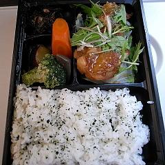 091128鶏の唐揚げ甘酢あん野菜添え弁当