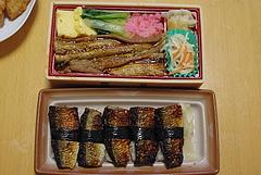 100714穴子ちらし寿司&サンマ炙り寿司@茅ヶ崎えぼし