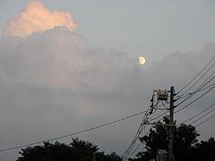 090803雲と月