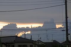 100717夕日と雲