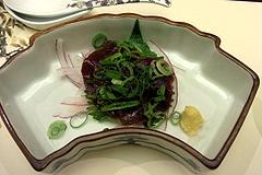 100524桜肉のお造り@梅の花