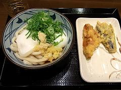 100520とろ玉ぶっかけうどん&かしわ天&茄子天@丸亀製麺