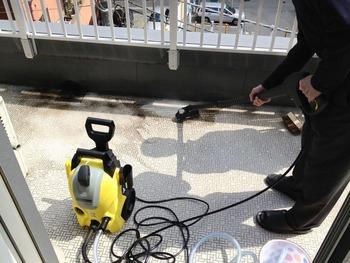 高圧洗浄機ケルヒャーとマンションベランダ清掃